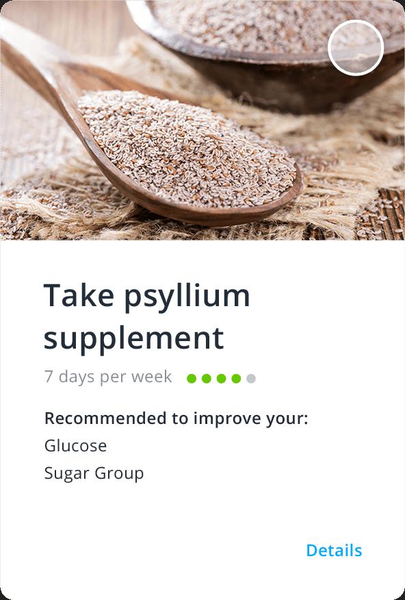 InsideTracker psyllium food card
